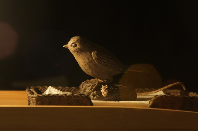 Bird by lamp light Sept 2014